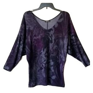Emily Blu Top with dolman sleeves -small